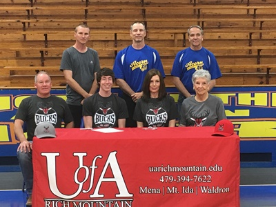 Cross Signs UA Rich Mountain Cross Country Team Letter of Intent